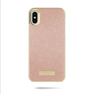 Kate Spade iPhone X and XS Wrap Case rose gold